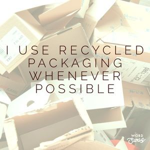 ♻️I recycle packaging♻️